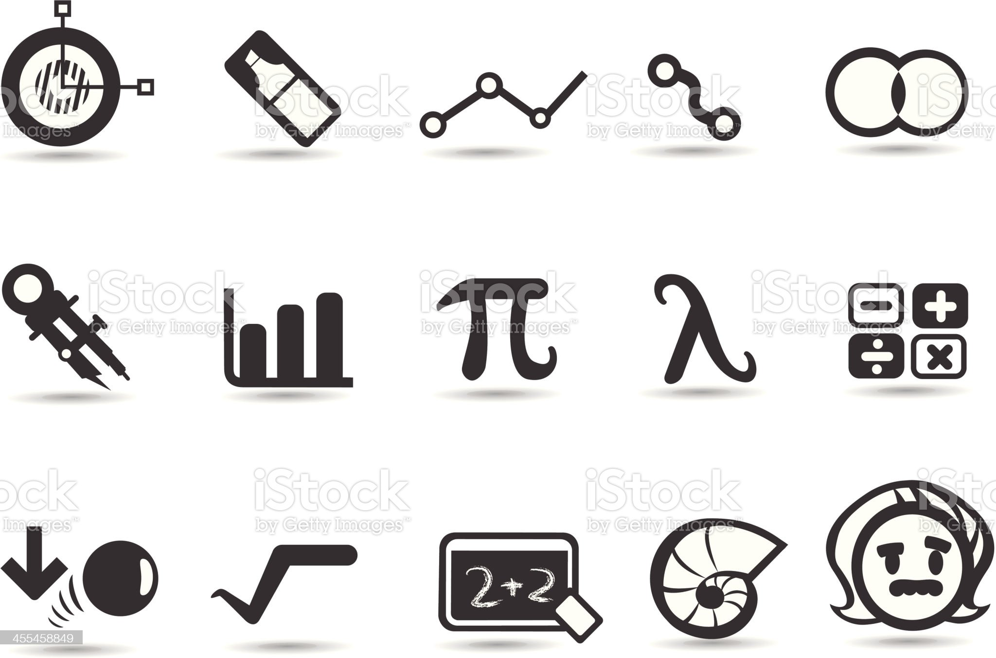 Math Icons royalty-free stock vector art