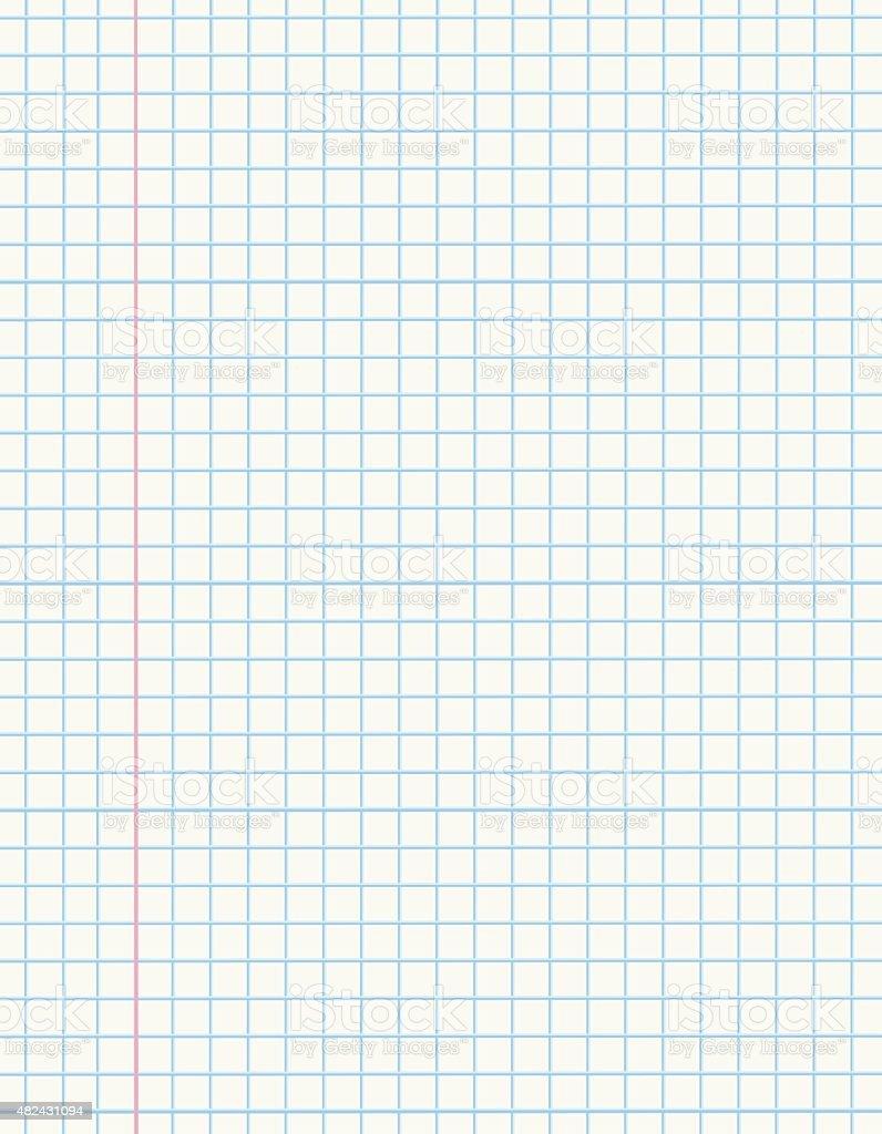 Math paper vector art illustration