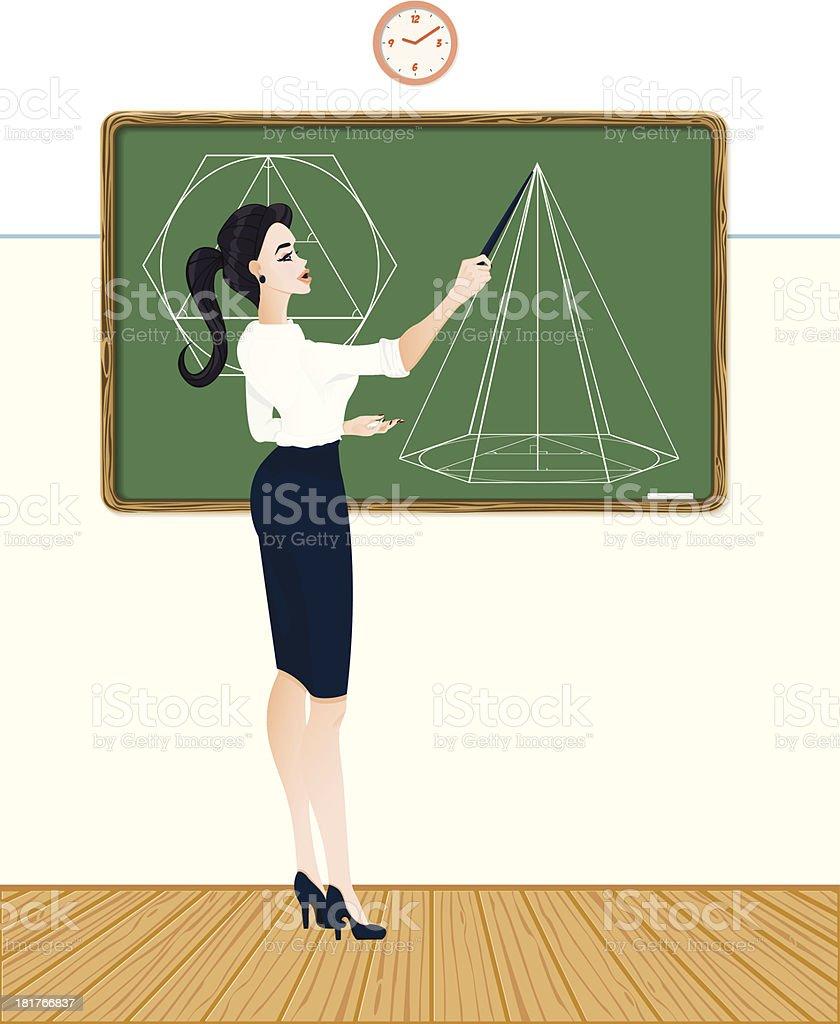 Math school teacher royalty-free stock vector art