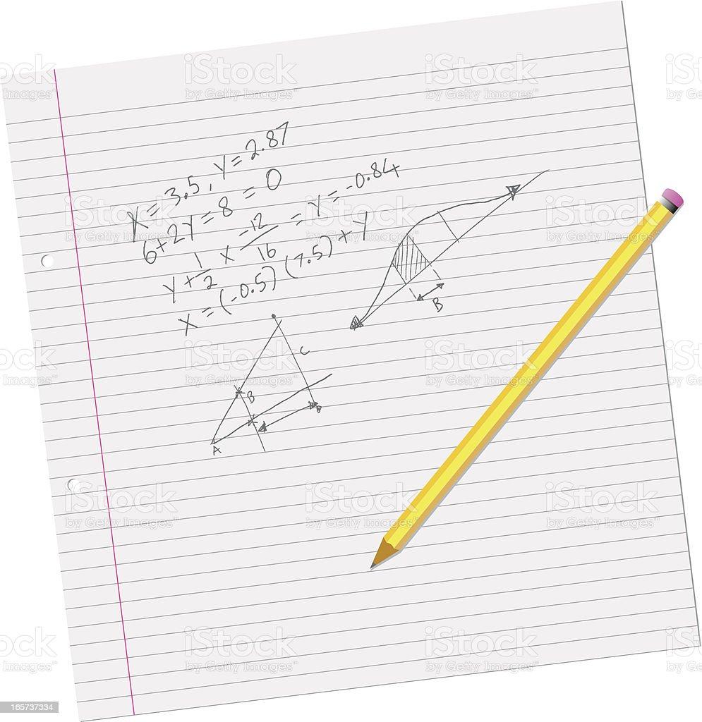 Math School Work royalty-free stock vector art
