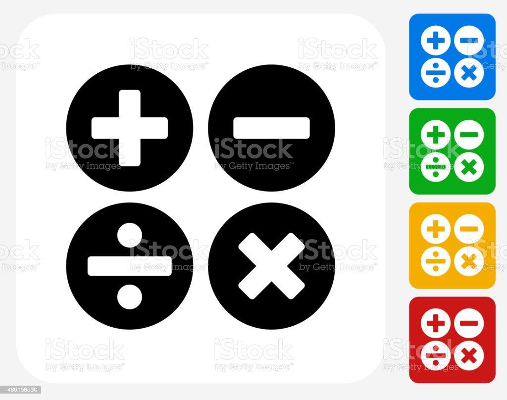 Math Symbols Icon Flat Graphic Design vector art illustration