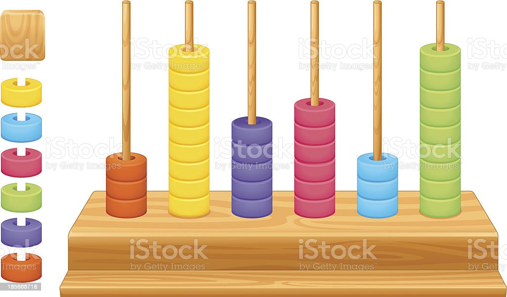 Mathematical place value abacus royalty-free stock vector art