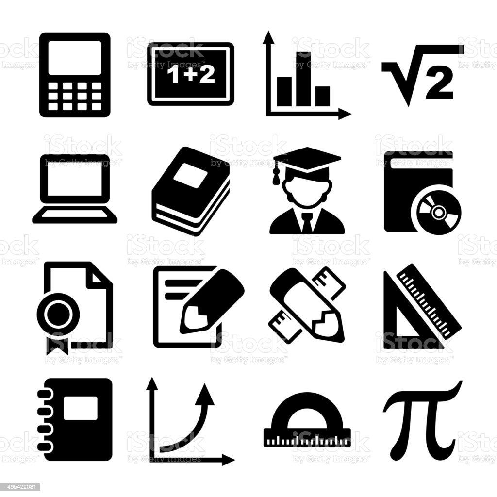 Mathematics Icons Set royalty-free stock vector art