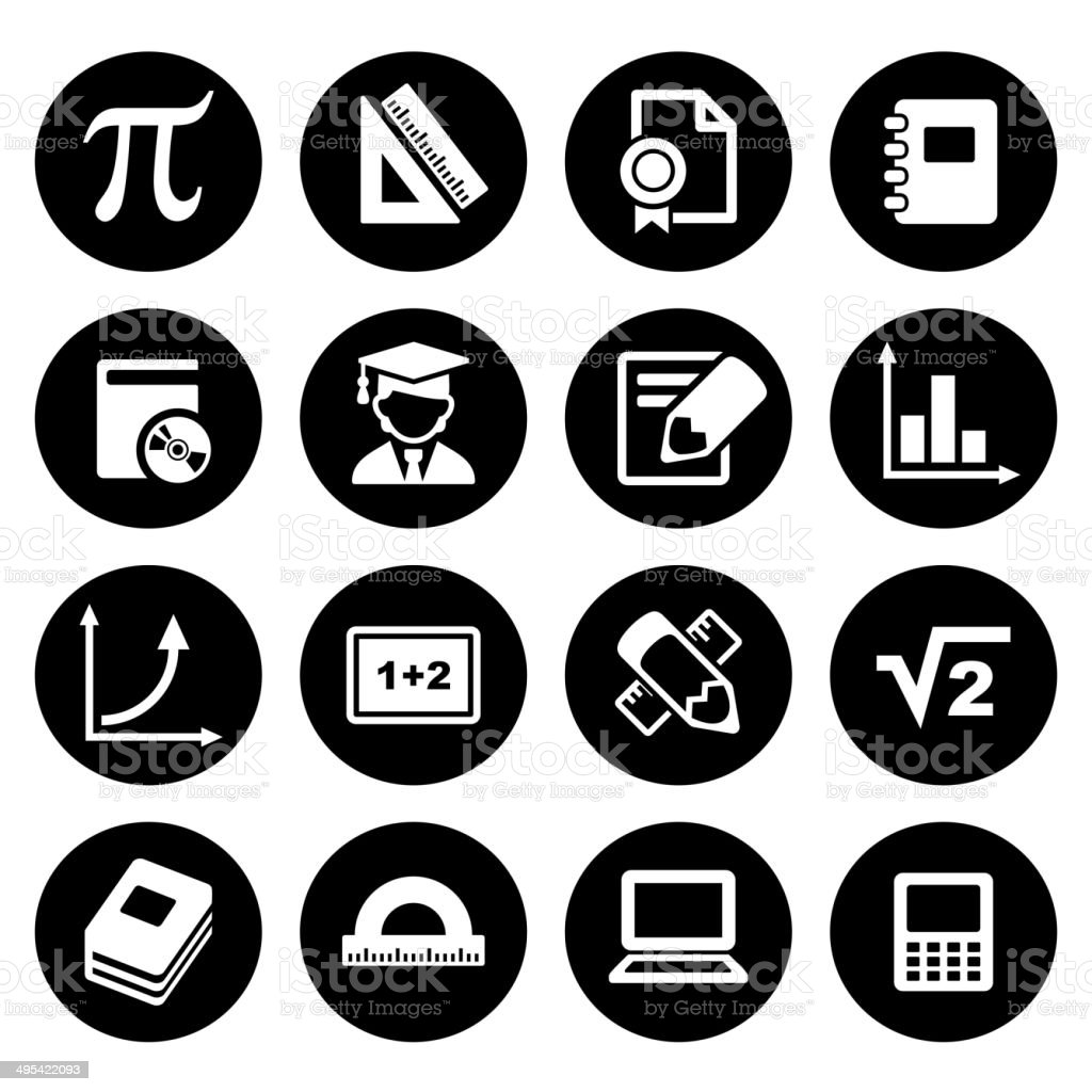 Mathematics Icons Set royalty-free stock vector art
