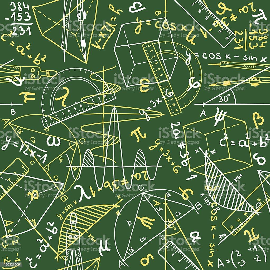 Mathematics seamless pattern royalty-free stock vector art