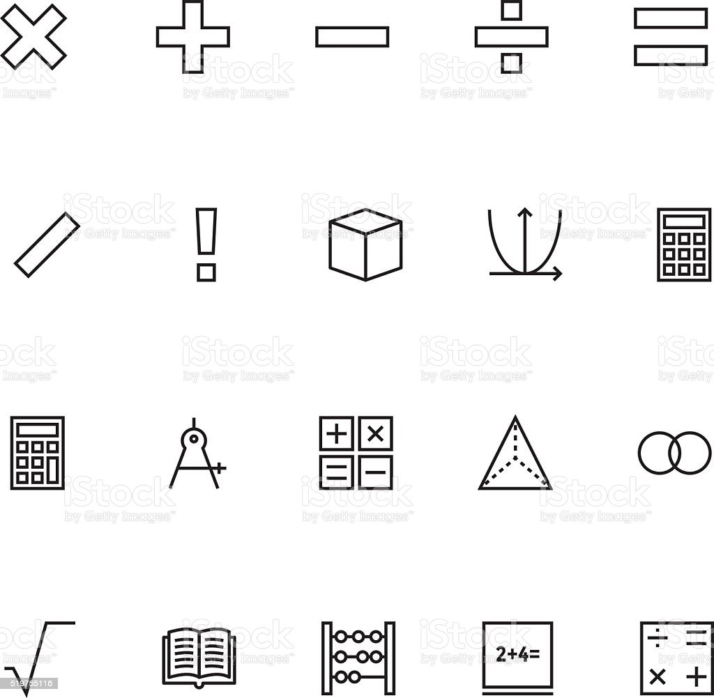 Mathematics Vector Icons 1 vector art illustration