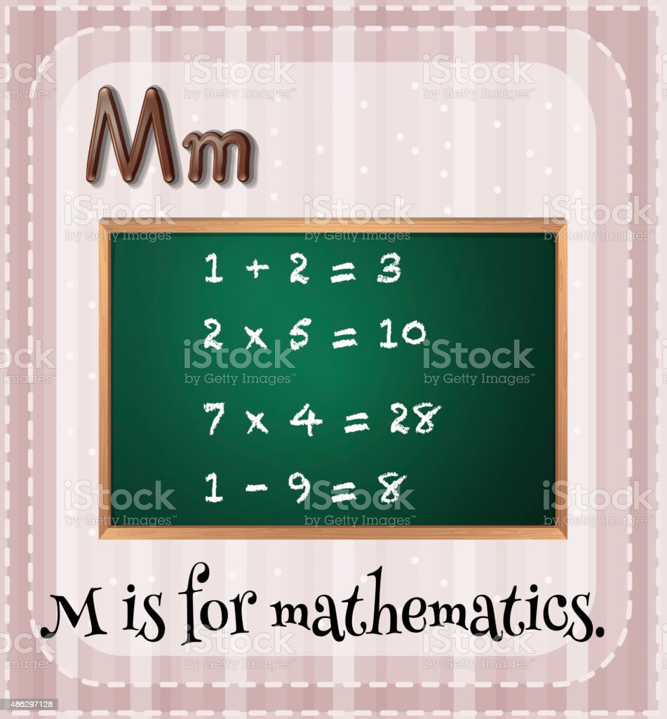 Mathematics vector art illustration