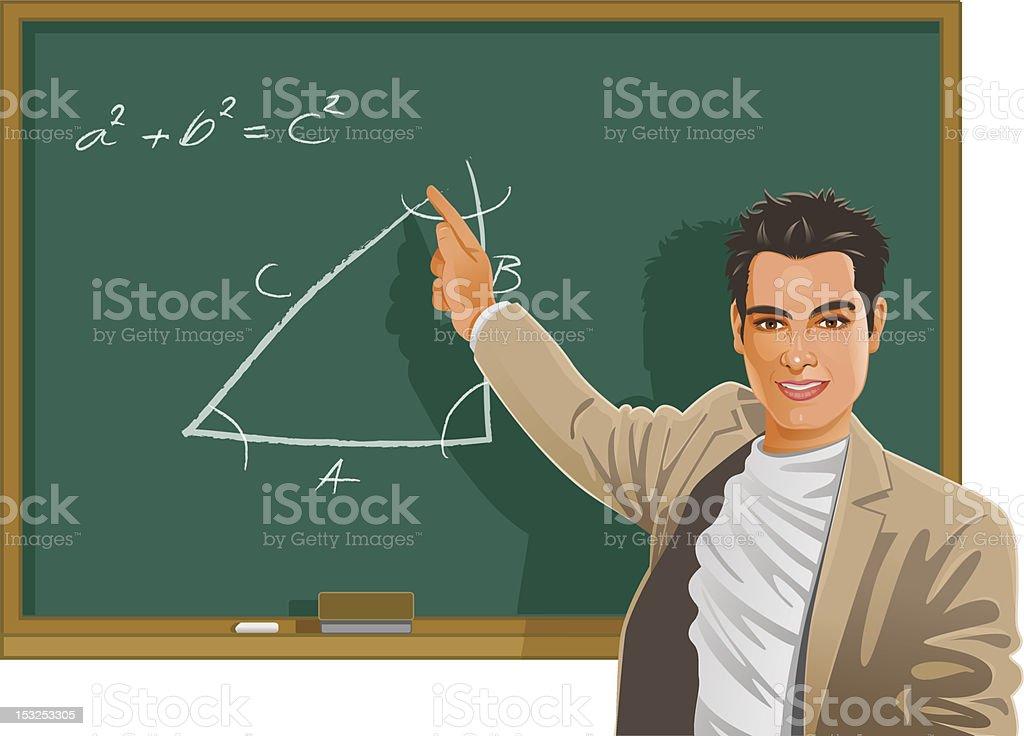 Maths class royalty-free stock vector art