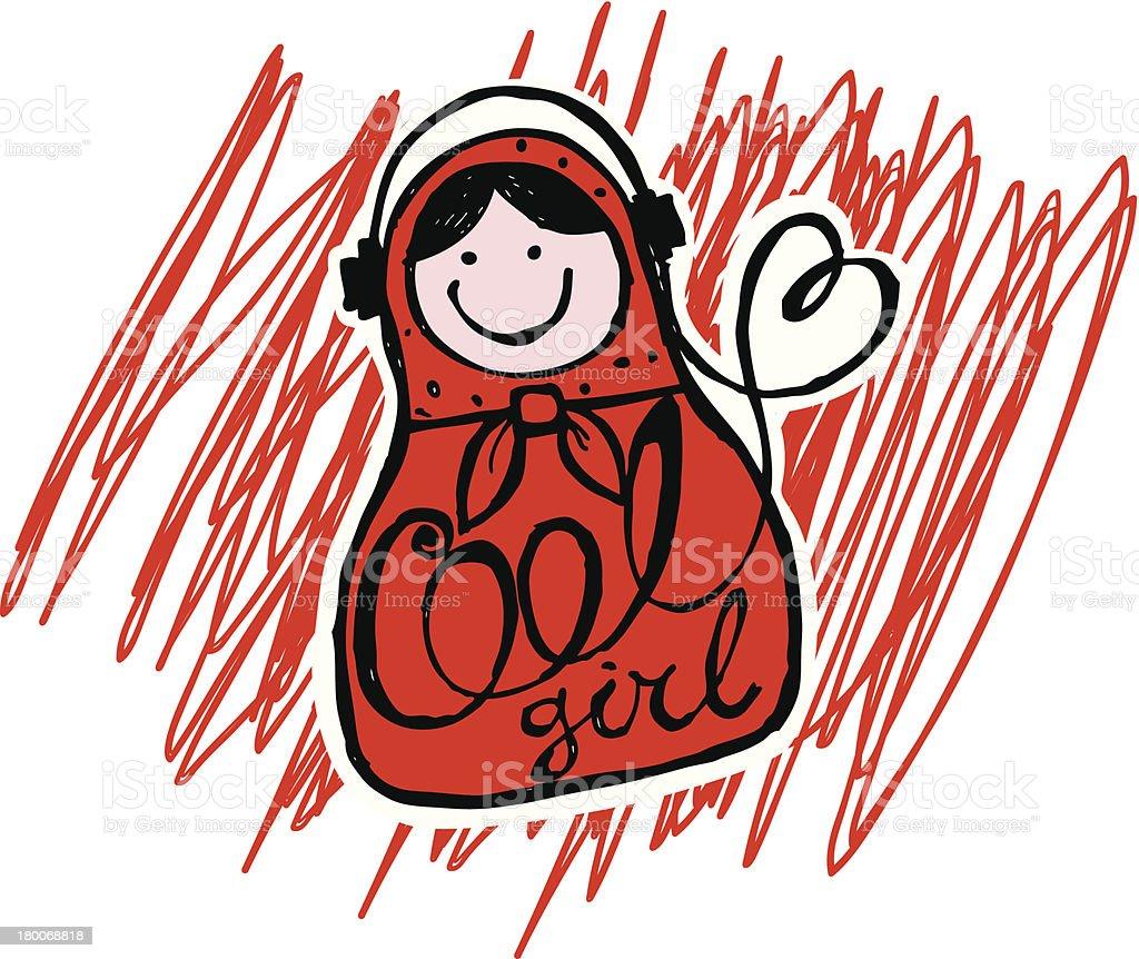 matreshka dolls vector art illustration