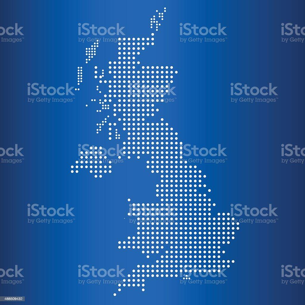 matrix map of United Kingdom vector art illustration