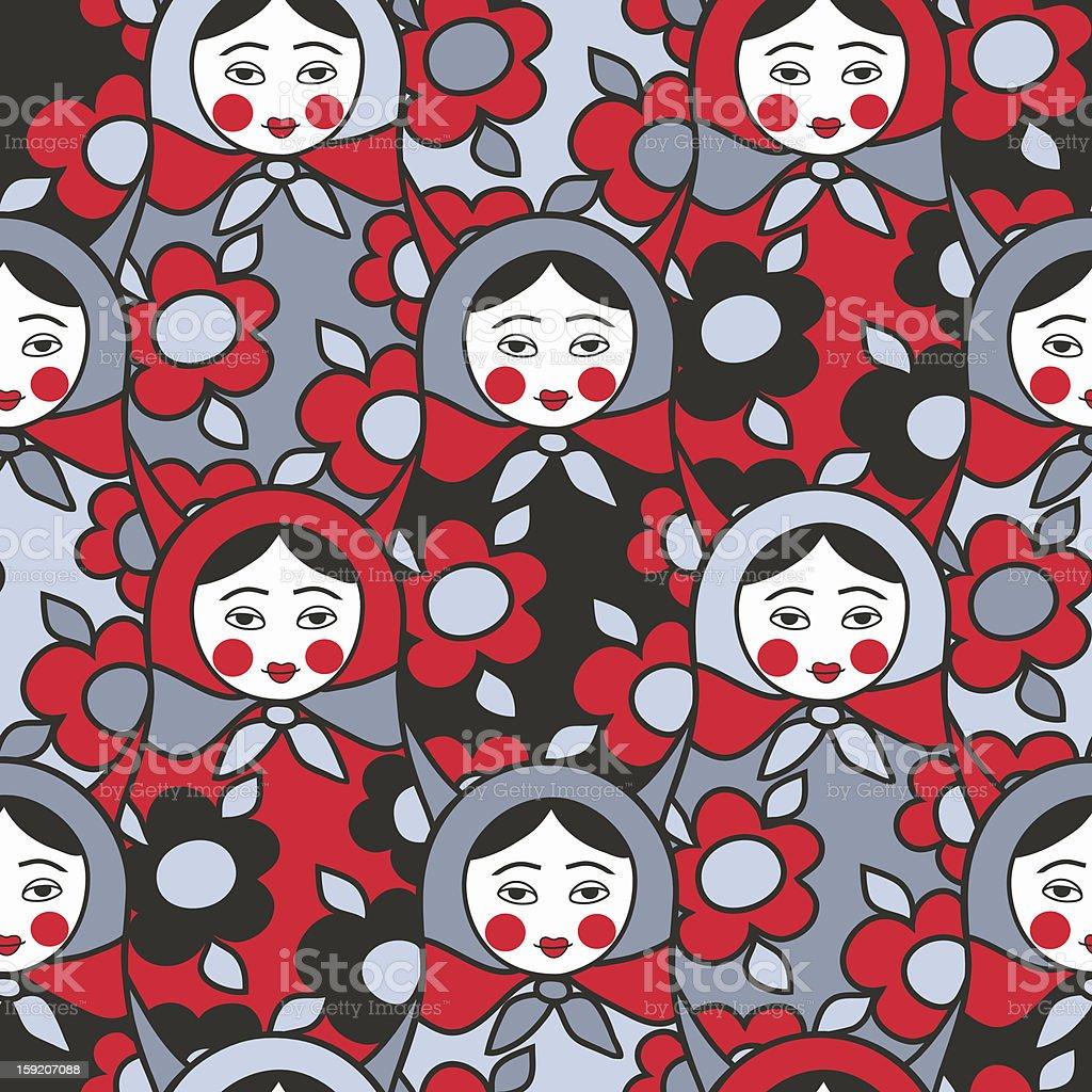 Matryoshka - seamless pattern royalty-free stock photo