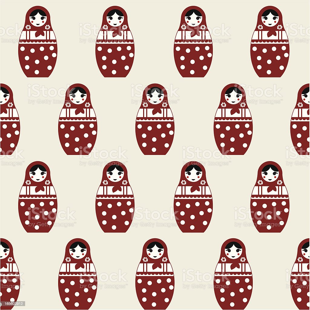 Matryoshka (Russian doll) royalty-free stock vector art