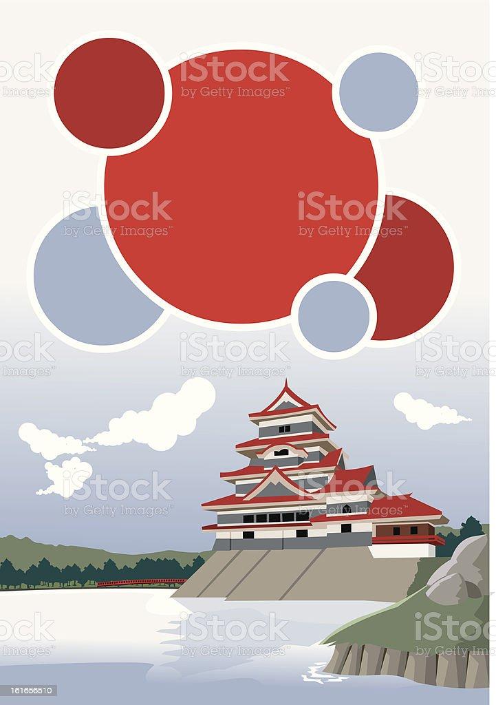 Matsumoto Castle royalty-free stock vector art