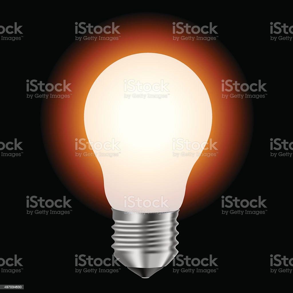 matte lamp illuminated vector art illustration