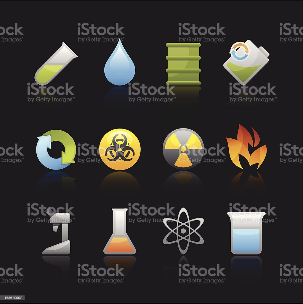 Matte Series Icon - Chemistry royalty-free stock vector art