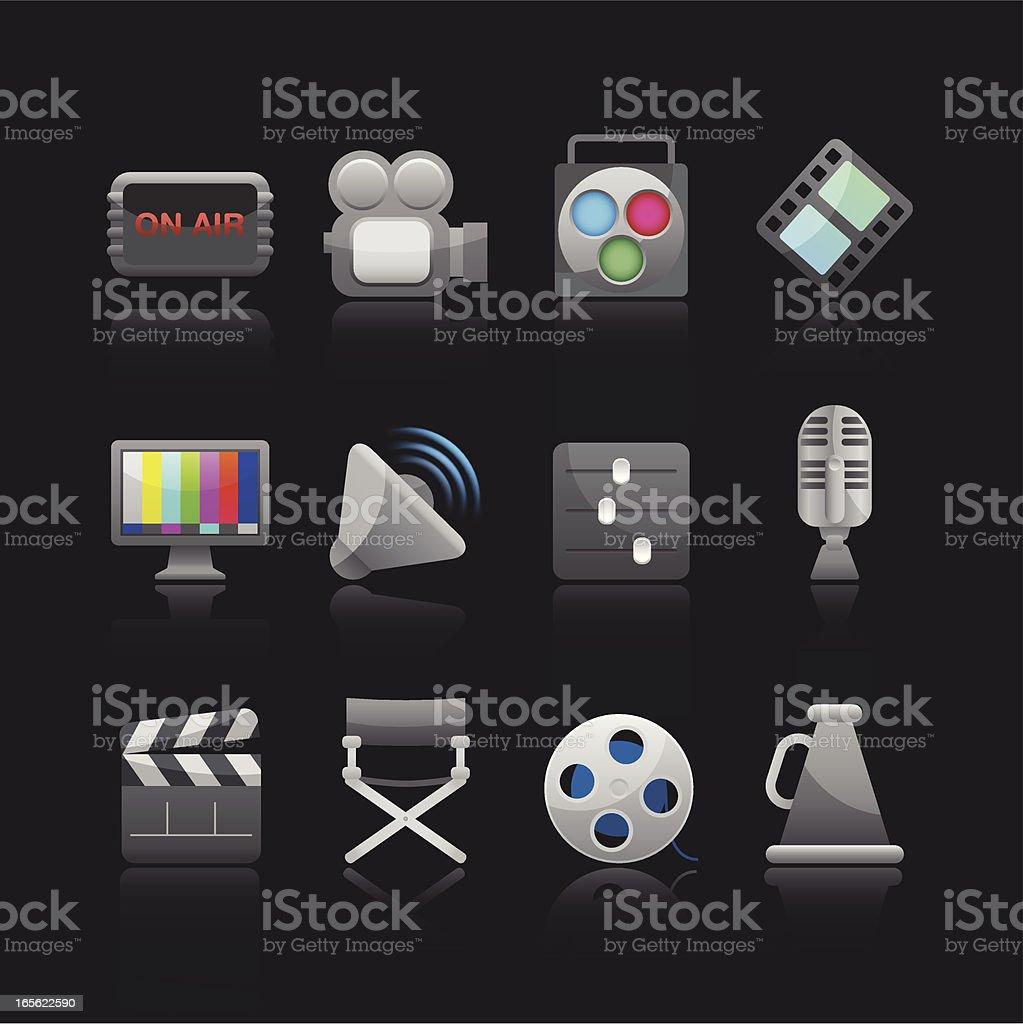 Matte Series Icon - Film Equipment royalty-free stock vector art