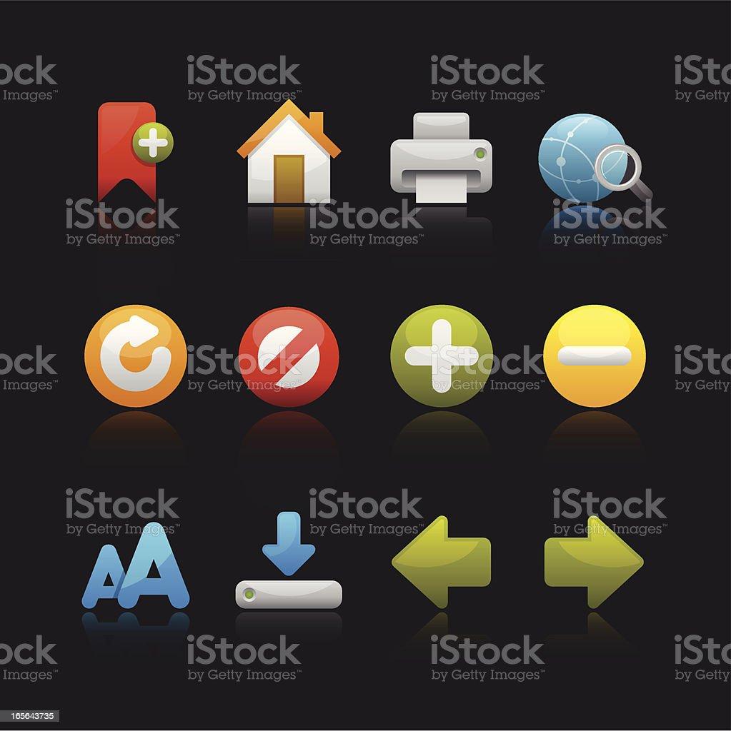 Matte Series Icon - Internet Browser vector art illustration