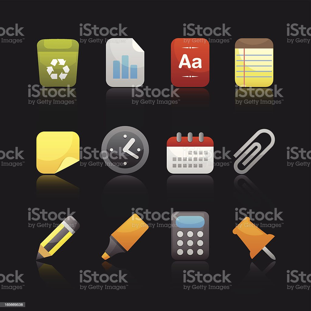 Matte Series Icon - Office royalty-free stock vector art