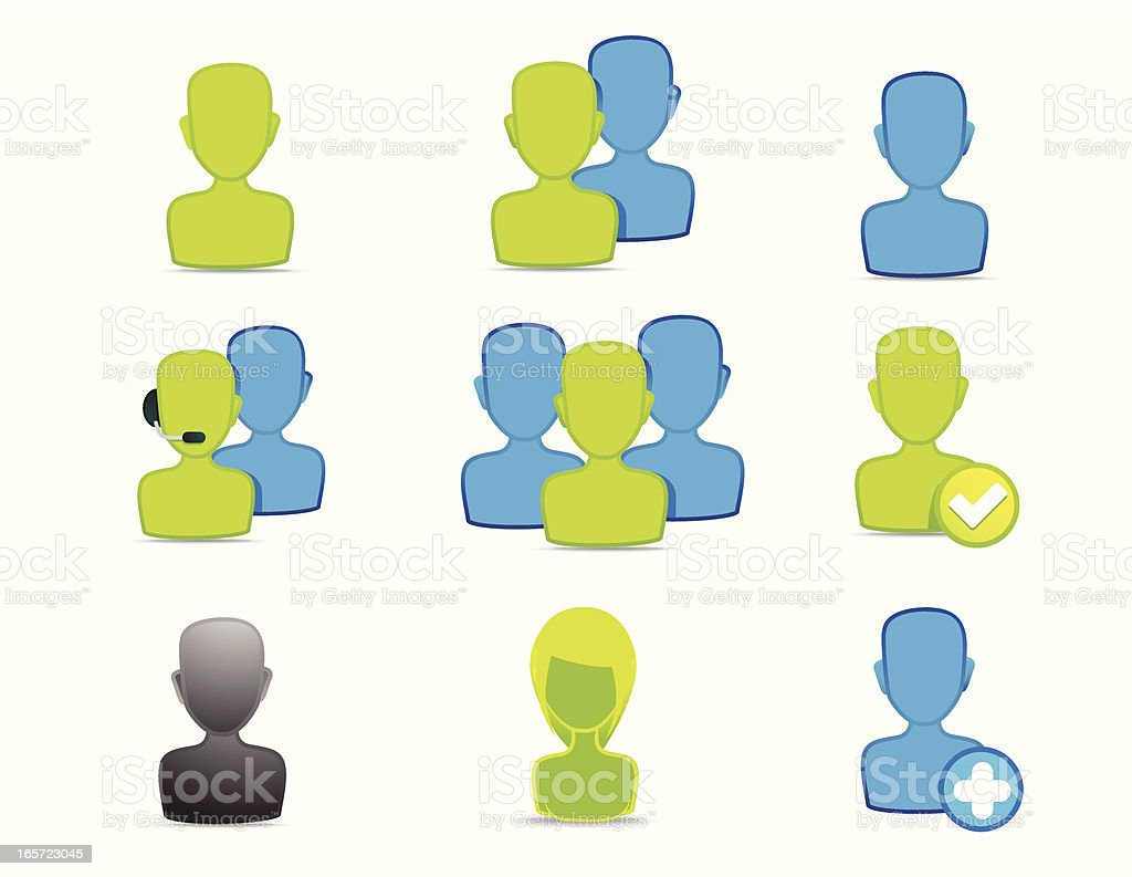 Matte social network icons royalty-free stock vector art