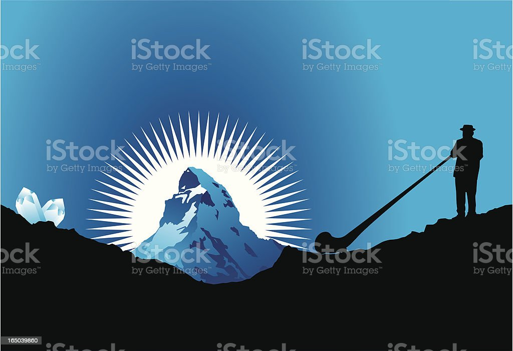 Matterhorn vector art illustration