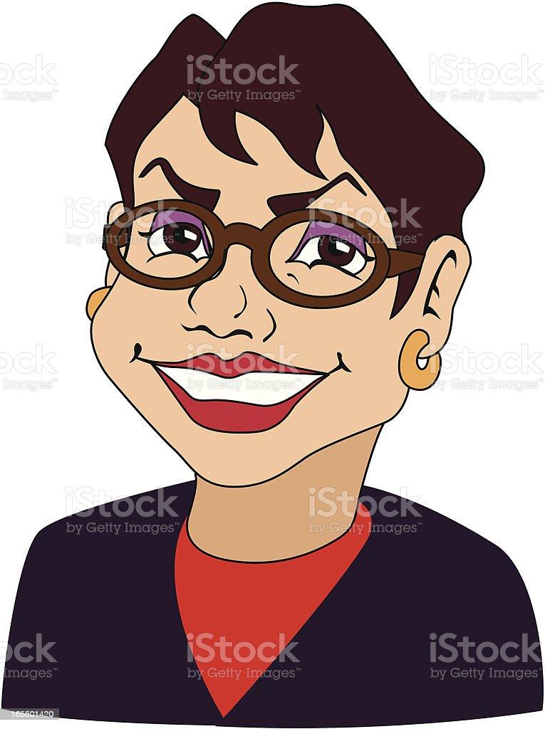 Mature Businesswoman royalty-free stock vector art