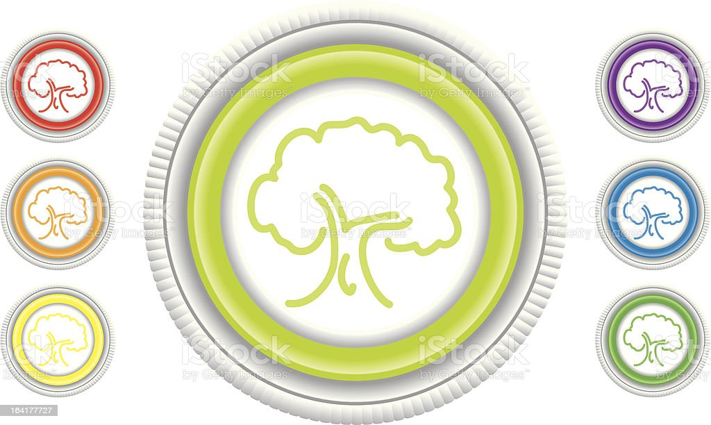 Mature Tree royalty-free stock vector art