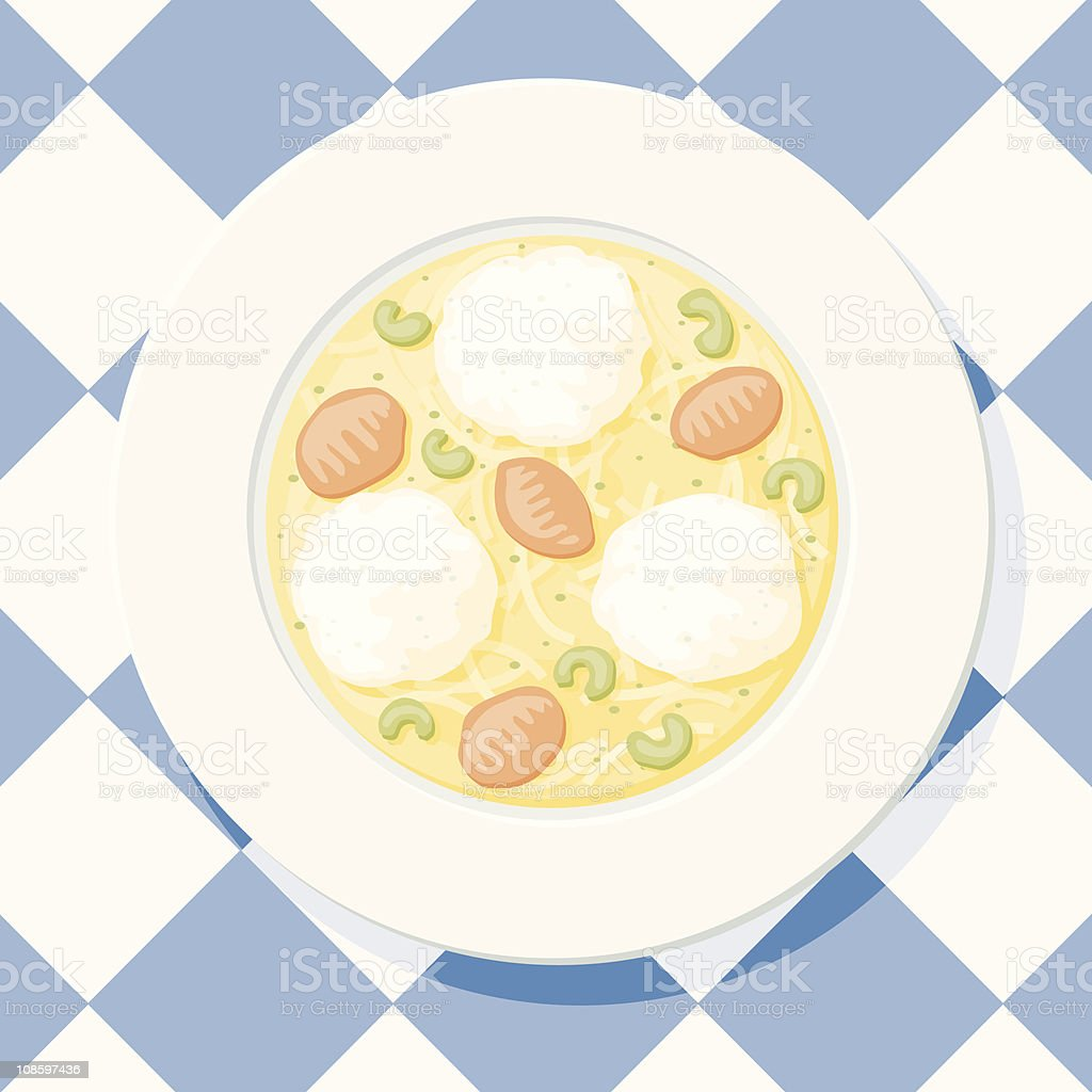 Matzo Ball Soup royalty-free stock vector art