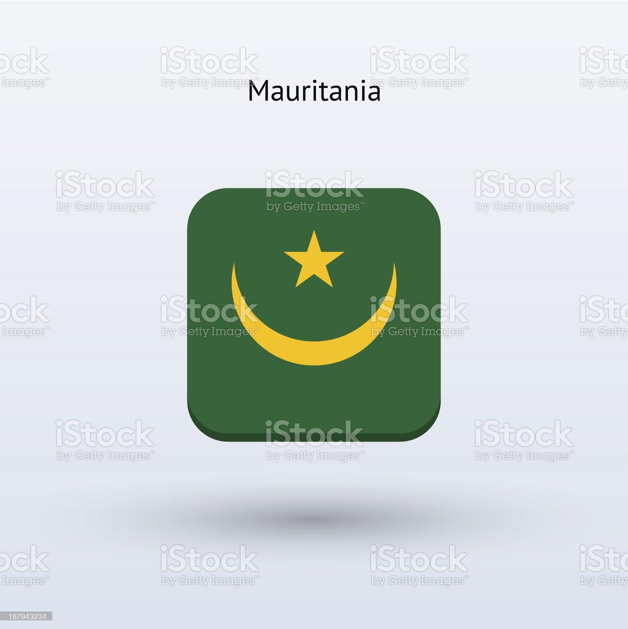 Mauritania Flag Icon royalty-free stock vector art