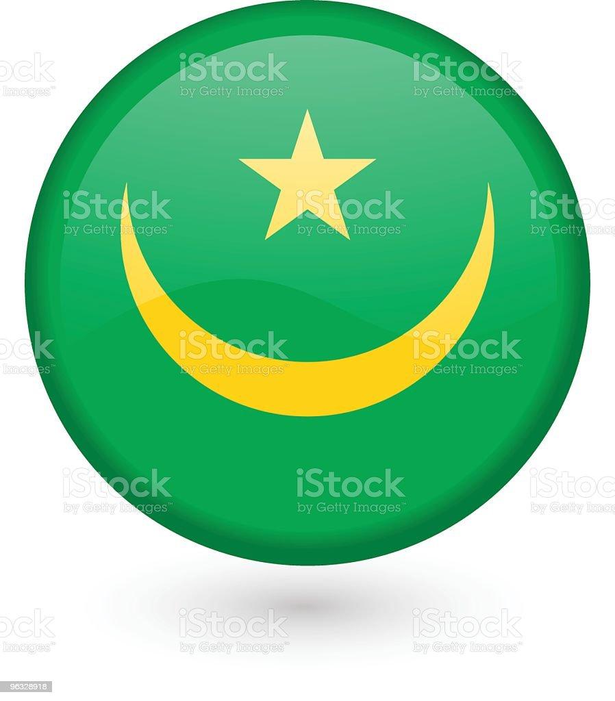 Mauritania flag vector button royalty-free stock vector art