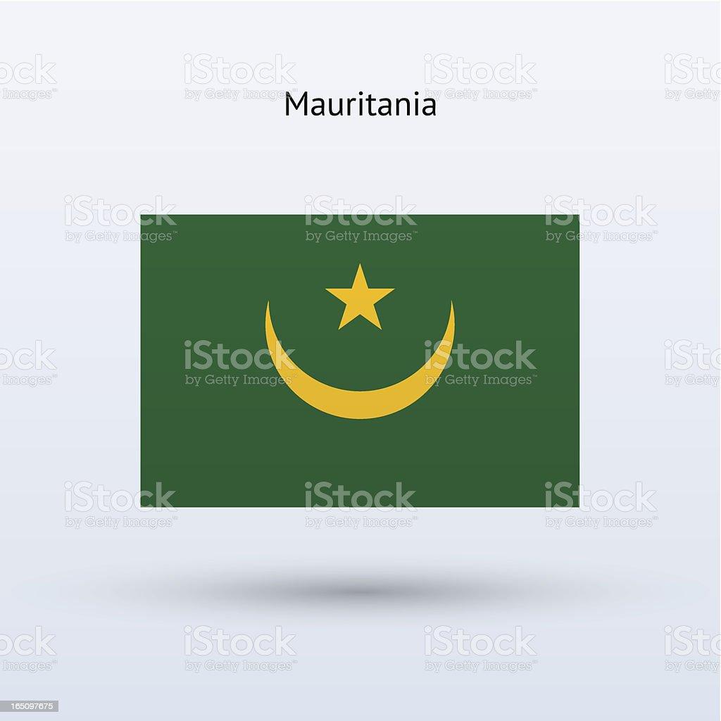 Mauritania Flag royalty-free stock vector art