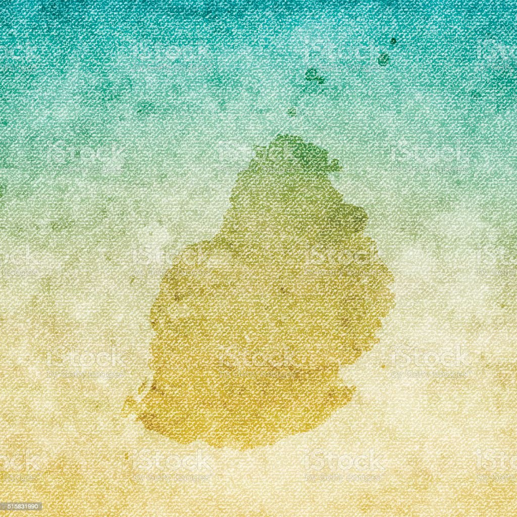 Mauritius Map on grunge Canvas Background vector art illustration