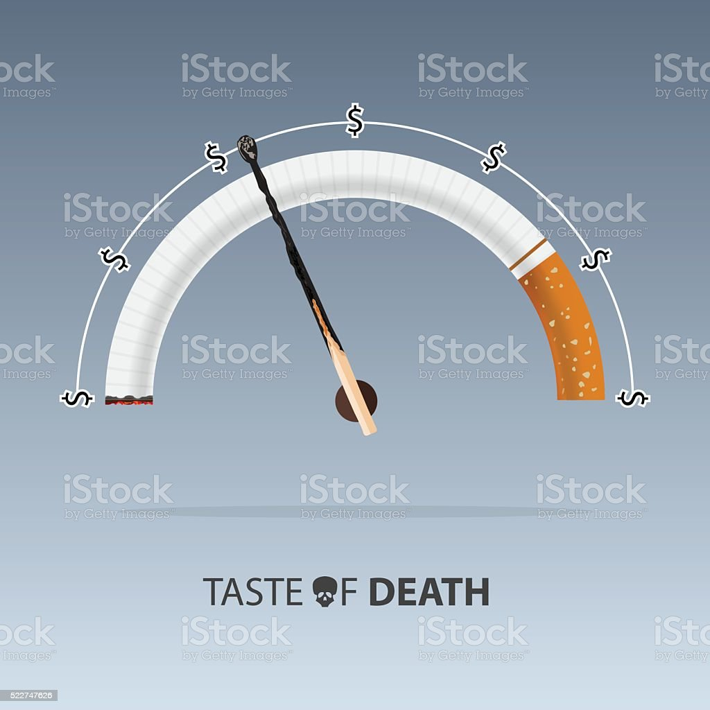 May 31st World No Tobacco Day. Diseases of cigarette. Vector. vector art illustration