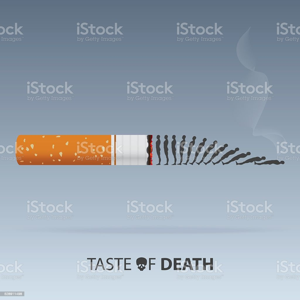 May 31st World No Tobacco Day. Poison of cigarette. Vector. vector art illustration