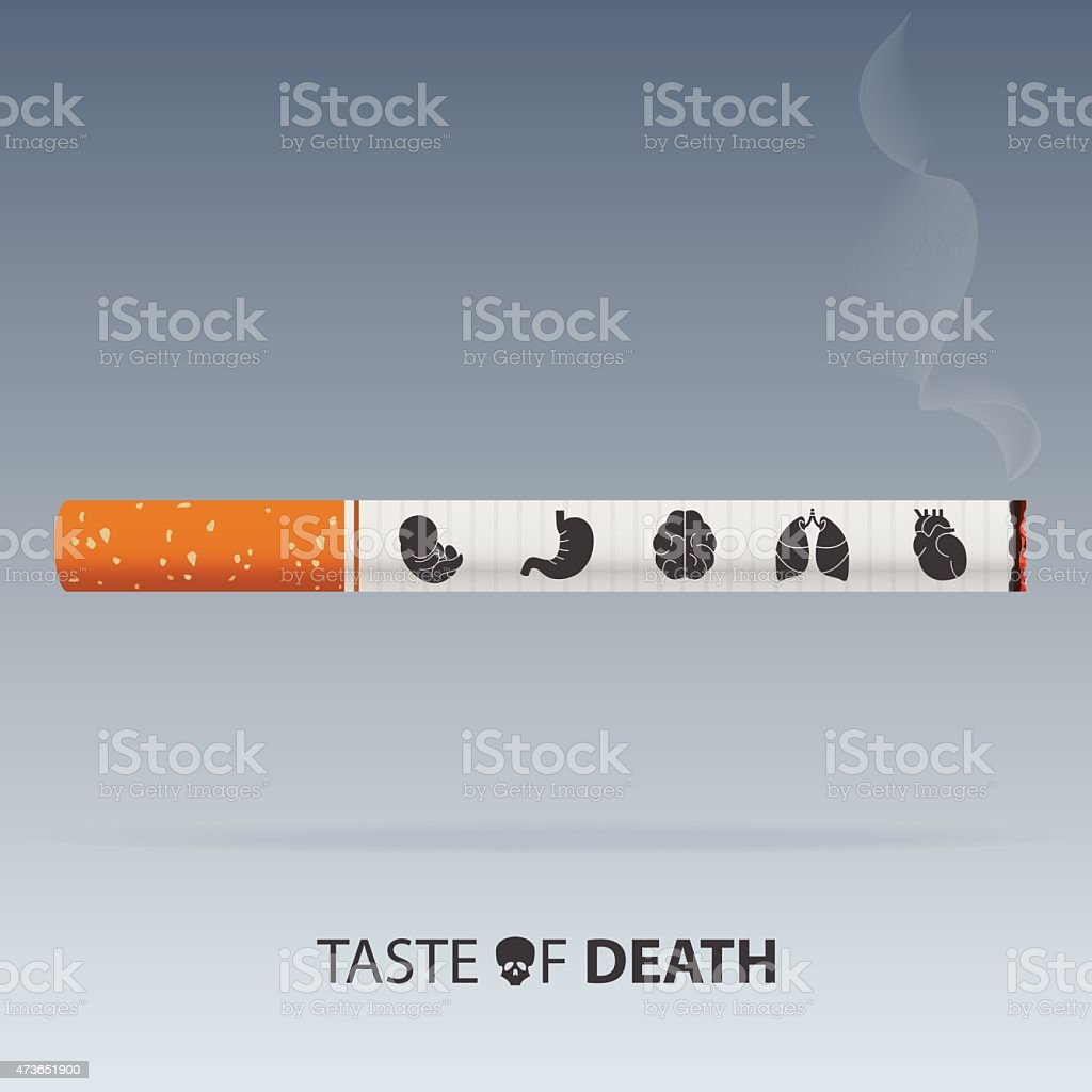 May 31st World No Tobacco Day poster. Poison of cigarette vector art illustration