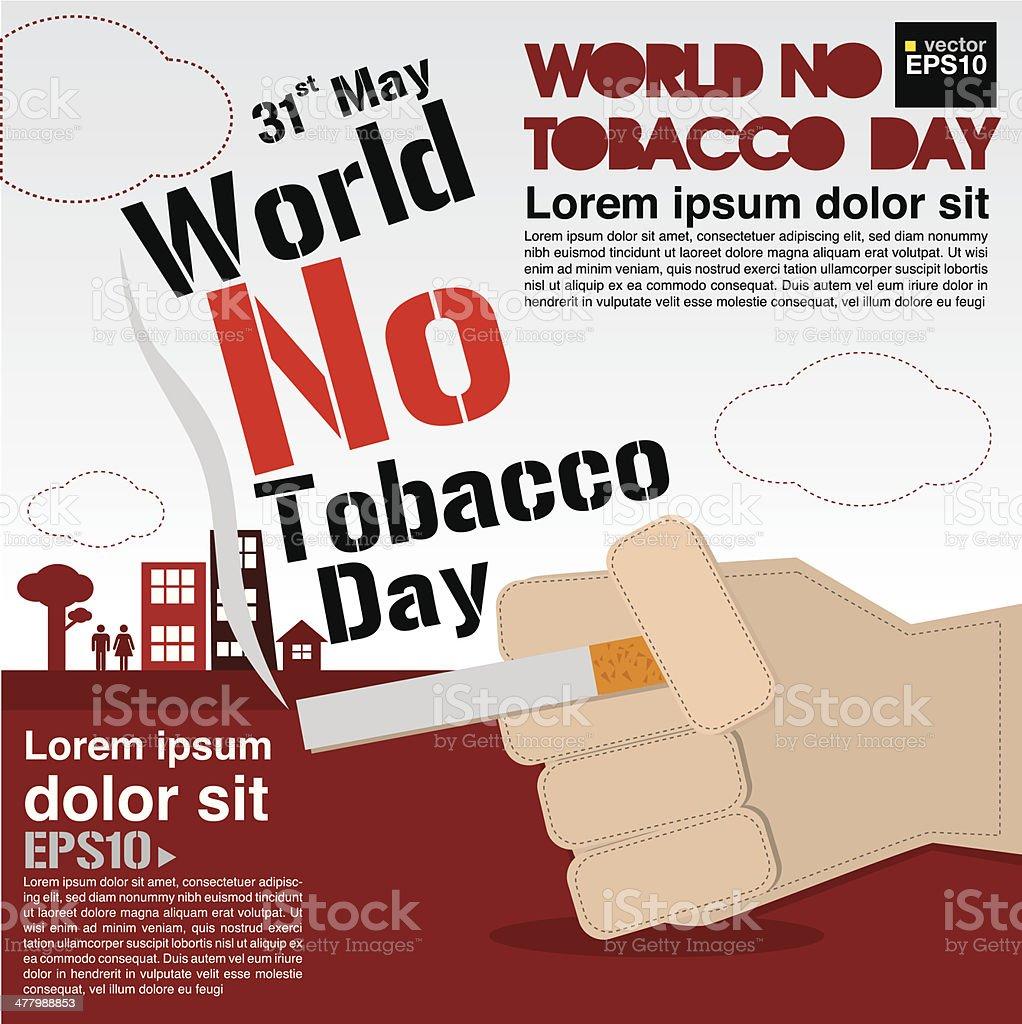 May 31st World no tobacco day. royalty-free stock vector art