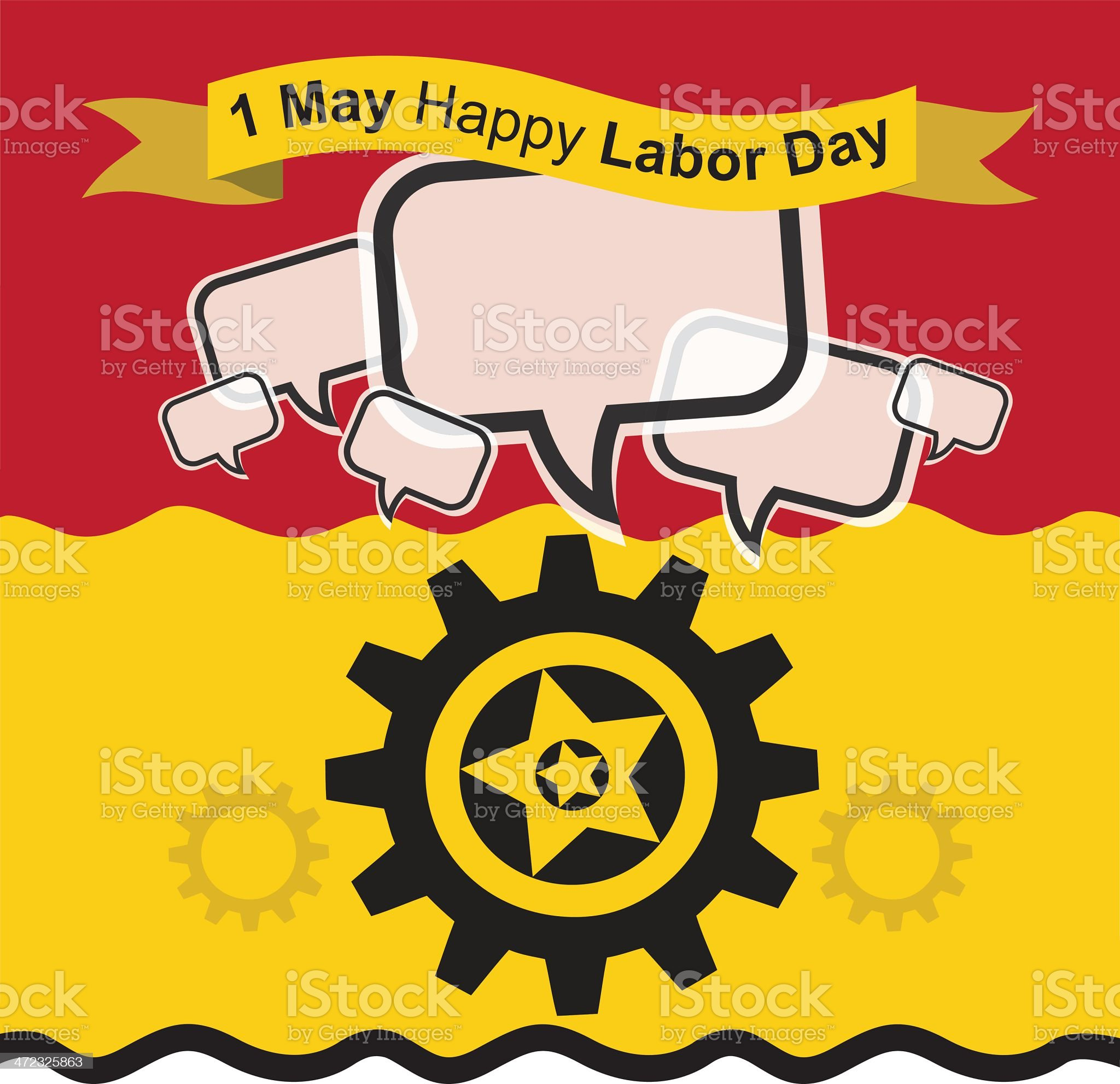 1 May Happy Labour Day royalty-free stock vector art