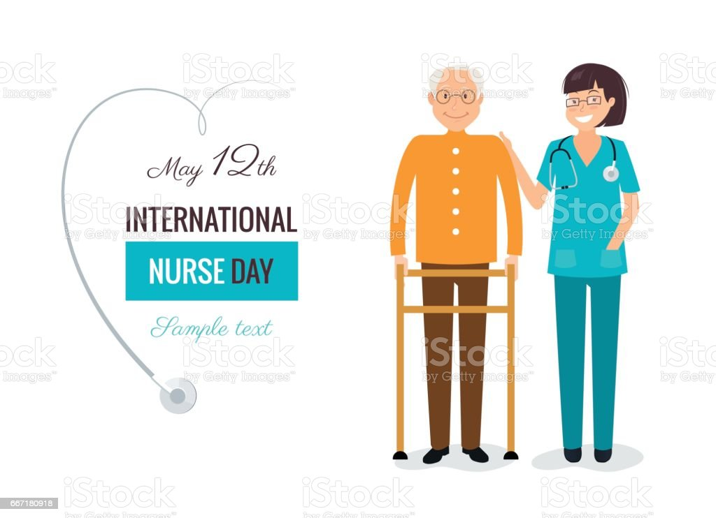 12 May. International Nurse Day background. vector art illustration