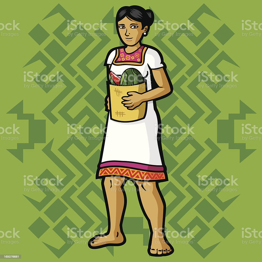 Maya (Mexican garment series) royalty-free stock vector art