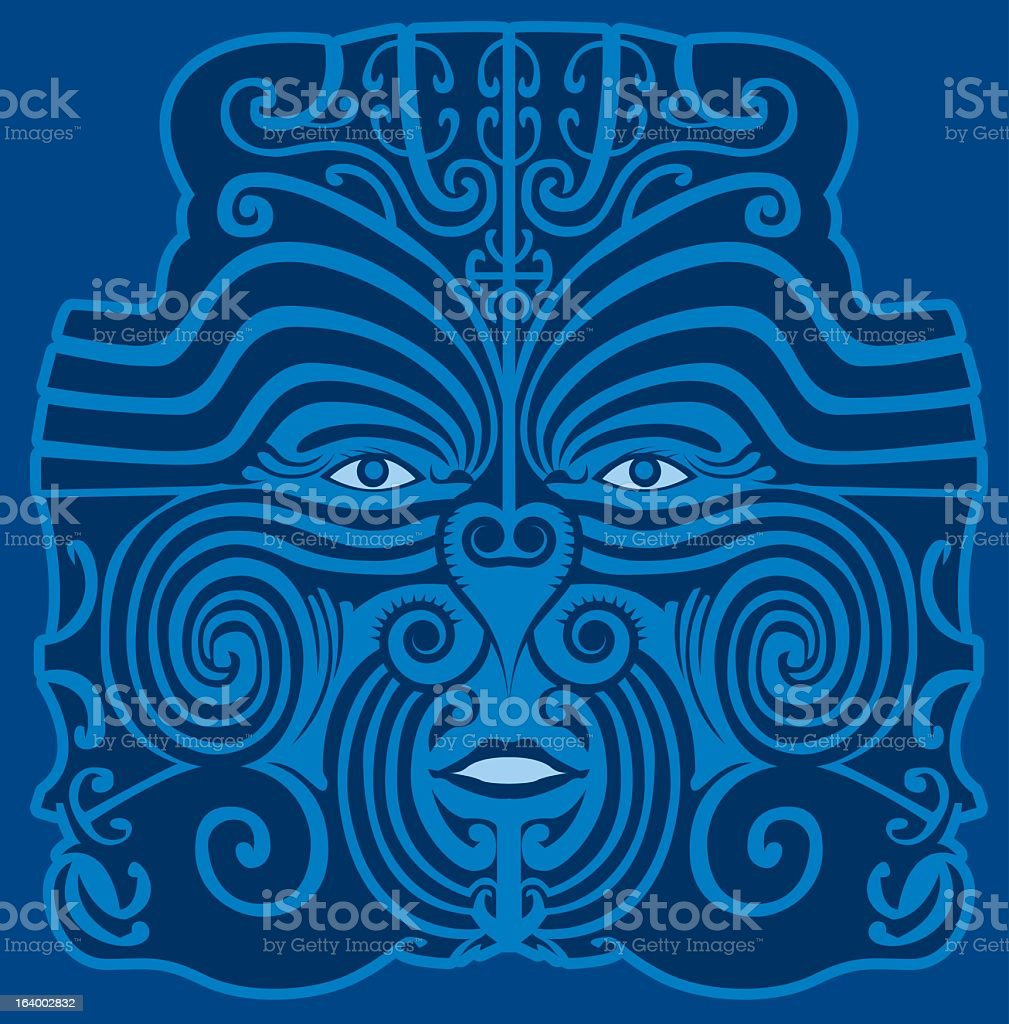 Mayan Mask royalty-free stock vector art
