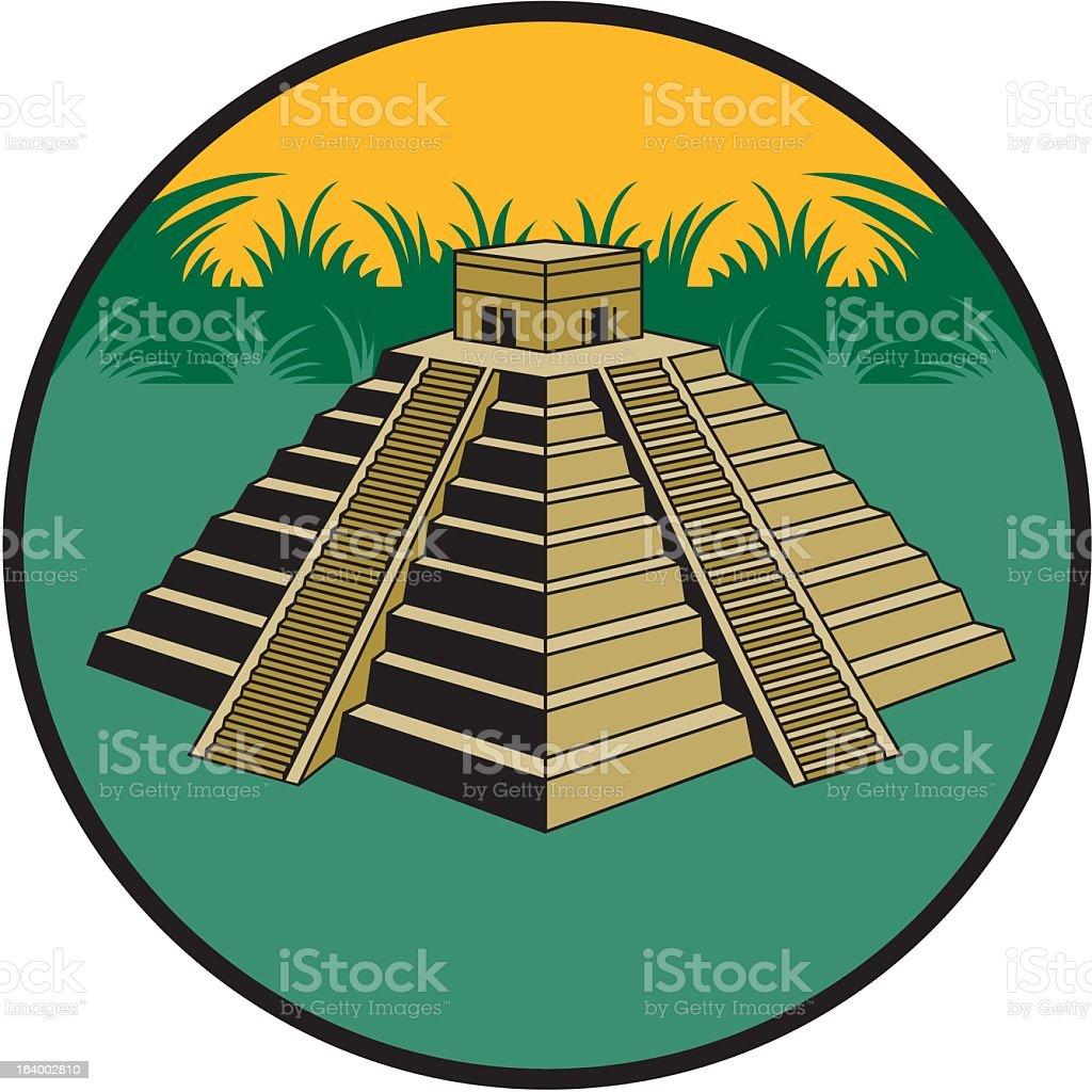 Mayan Pyramid royalty-free stock vector art