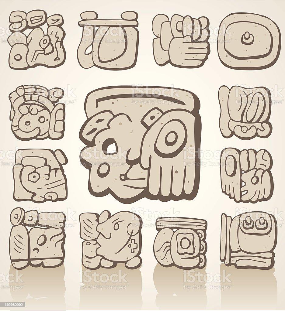 Mayan Symbols royalty-free stock vector art