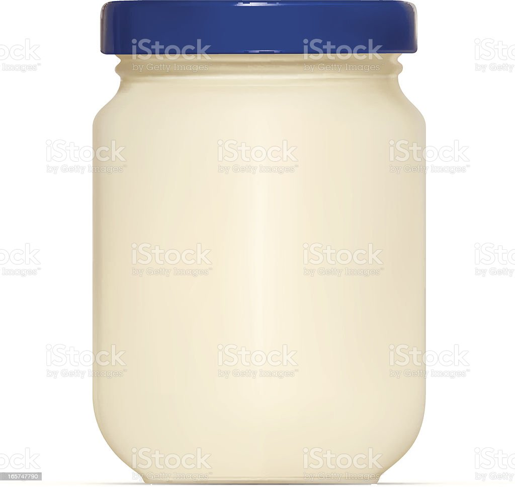 Mayonnaise Jar vector art illustration