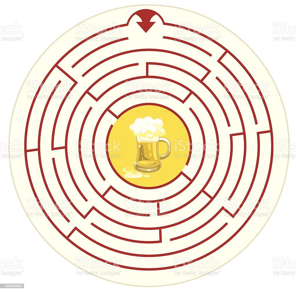 Maze Coaster royalty-free stock vector art