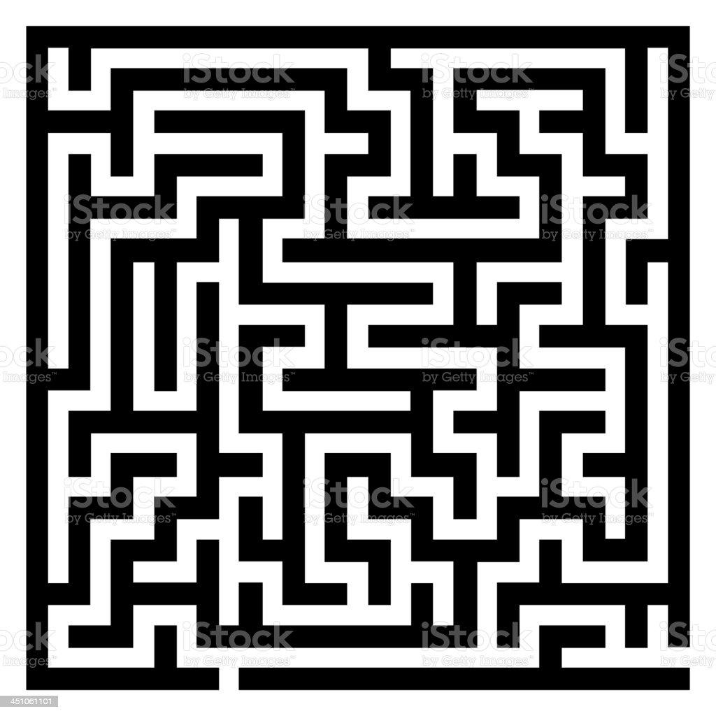 Maze labyrinth royalty-free stock vector art