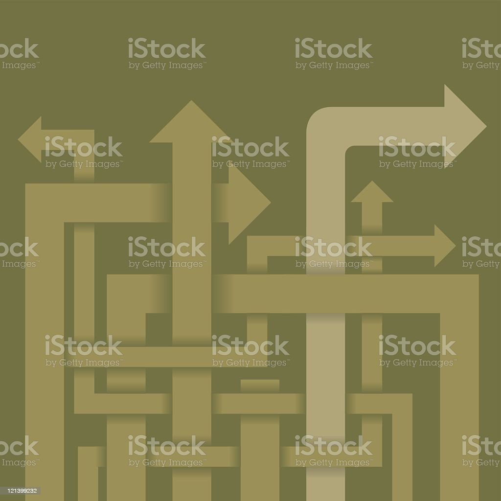 Maze of Arrows royalty-free stock vector art