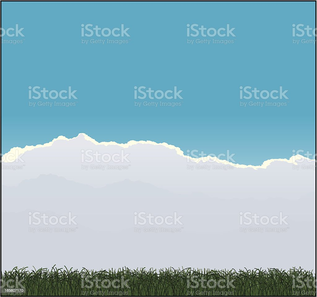 Meadow background royalty-free stock vector art