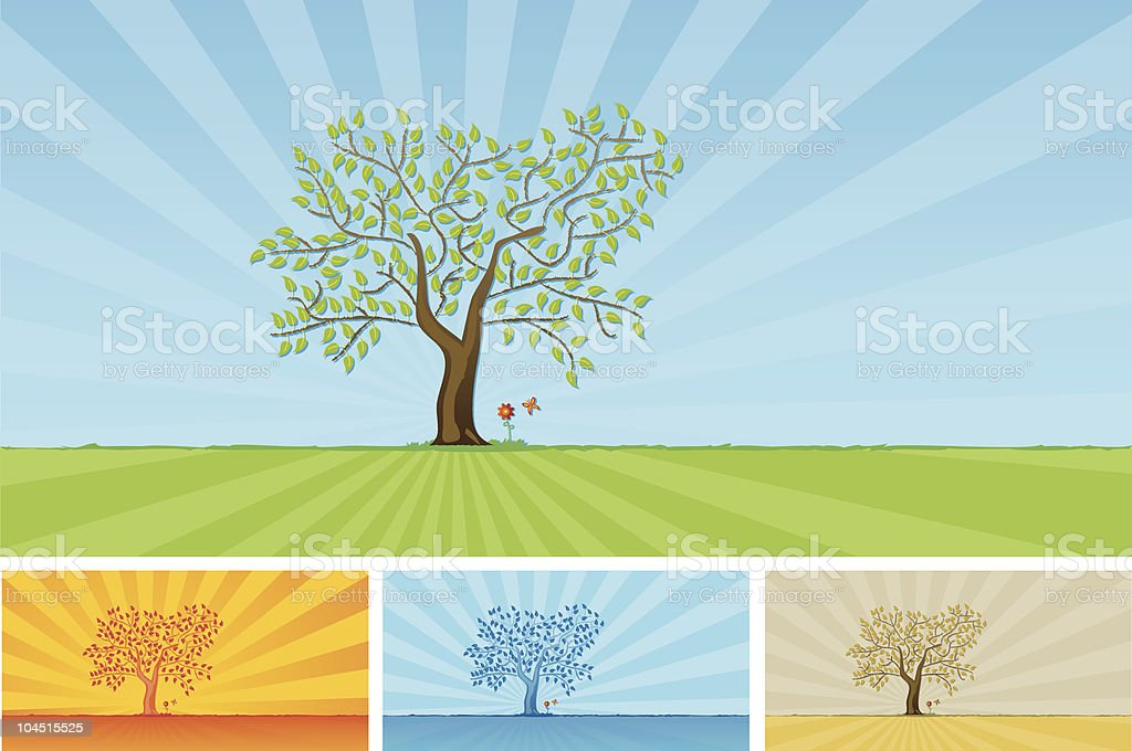 Meadow collection royalty-free stock vector art