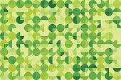 Meadow Geometric Circle Pie Horizontal Pattern