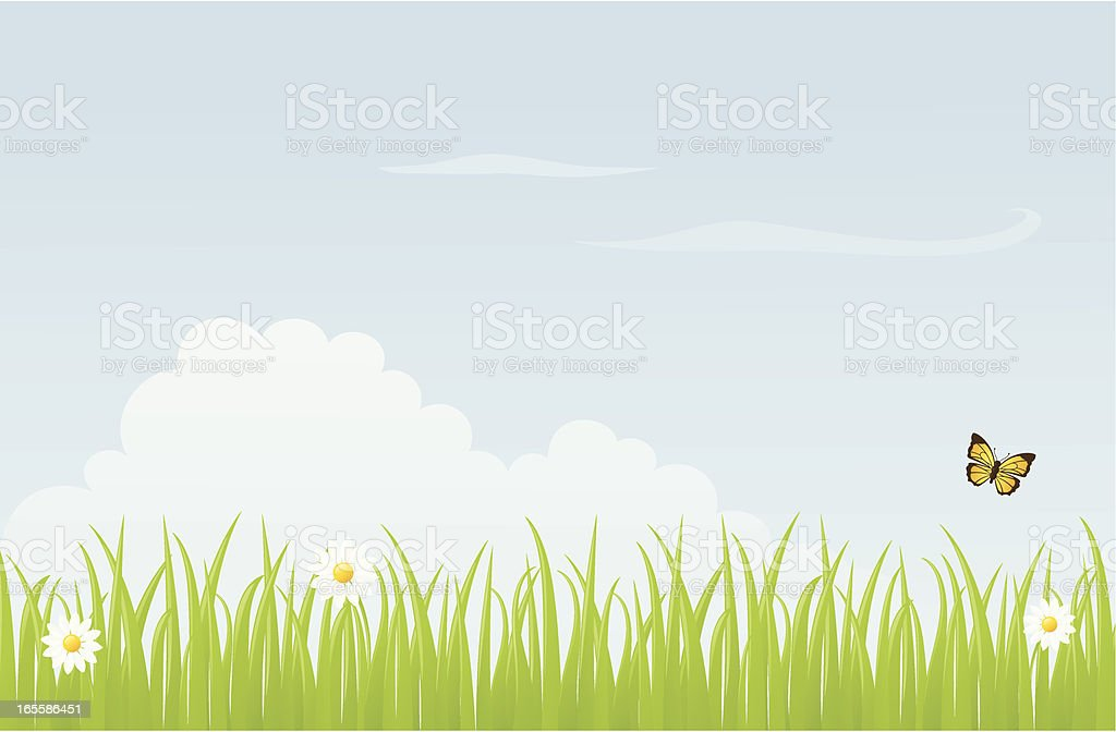 Meadow - incl. jpeg royalty-free stock vector art