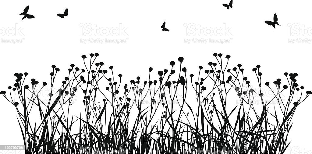 Meadow Silhouette royalty-free stock vector art